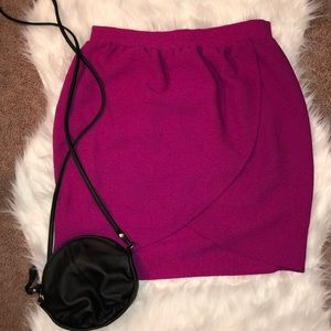 Magenta skirt from Francesca's